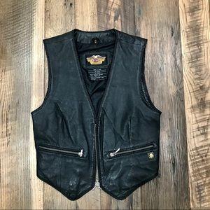 Harley Davidson Leather Vest Wm S